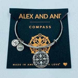Alex & Ani Compass Charm Bracelet Silver NWT